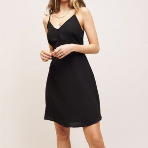 Dynamite Black Dress Straps and Buttons